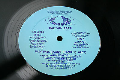 """CAPTAIN RAPP-Bad Times (I Can't Stand It)-/US '83 SATURN (SAT-2003) ORIG 12"""" EX+"""
