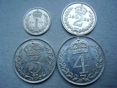 george v 1928 maundy set , mint condition   f. d. c. very rare