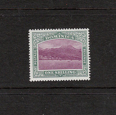 Dominica 1903 One Shilling Pictorial Stamp: S.g. 33 Mint, Great Condition.