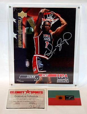 "Shawn Kemp Upper Deck Authenticated Autographed 8 1/2"" X 11"" 1994 Usa Card #/250"