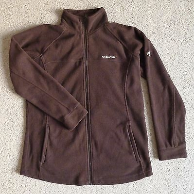 Ladies Craghoppers Chocolate Brown Fitted Fleece Jacket - Full Zip Size 16