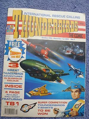 Thunderbirds The Comic No 1 Oct 1991 With Badge