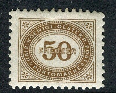 AUSTRIA;  1894 early classic Postage Due issue fine Mint hinged 50k. value
