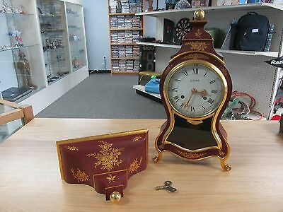 Preowned: Le Castel French Style Clock w/Bracket Working ~Free Shipping 702039~
