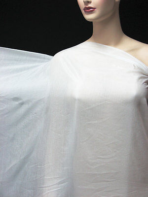 1 Yard/ 0.9 meters Silk Cotton Lining Fabric Super Comfy Off White
