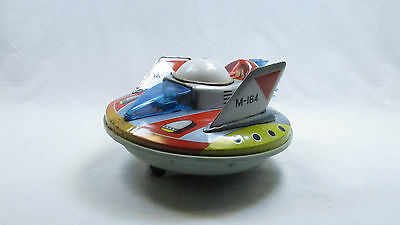 JAPAN VINTAGE SPACE TOY BATTERY OPERATED FLYING SAUCER UFO M-164 YONEZAWA 1960's