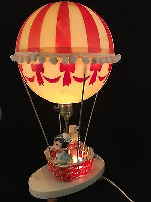 Novelty Vintage   Hot Air Balloon 3 Setting Lamp Night Light COMPLETE & WORKING