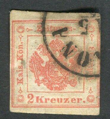 AUSTRIA;  LOMBARDY VENETIA 1860s classic Newspaper Imperf issue 2k. used