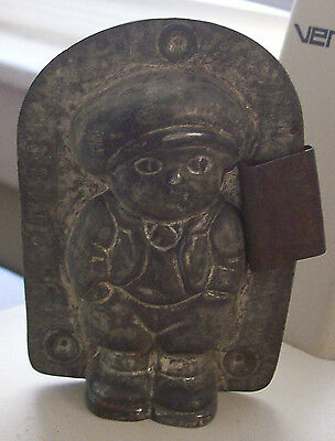 Antique Easter Child w/Hands in Pockets Solid Metal Chocolate Mold-Marked 24188