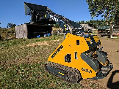 Mattson Mini Loader With Bucket,auger,pallet Forks & Ramps - Low Hours! - Dingo