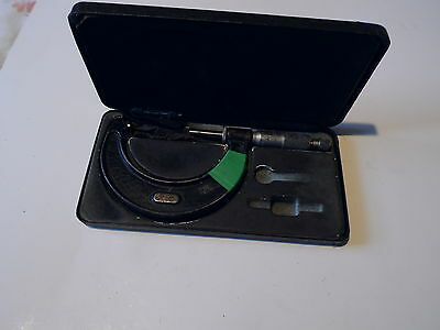 "M & W Moore & Wright vintage micrometer no. 966, 2""-3"" in case"