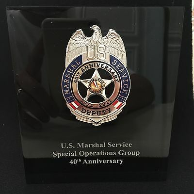 USMS SOG 40th Anniversary US Marshal Lucite