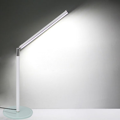 New Foldable LED Desk Table Lamp Bedside Reading Study Light Touch Control White