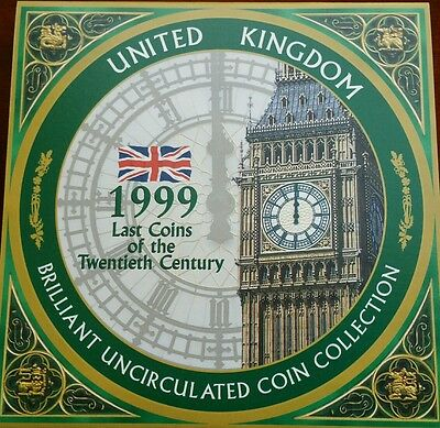 1999 United Kingdom Brilliant Uncirculated 8 coin collection set FREE POST UK