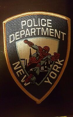 New York Police Department -  Spiderman Novelty Shoulder Patch - New
