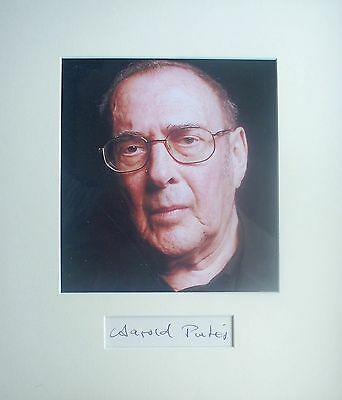 HAROLD PINTER: Playwright. Genuine signature mounted with photo. COA.