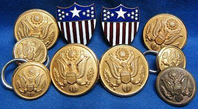 WWII Occupied Germany Made Adjutant General Insignia and Buttons Lot Of 10