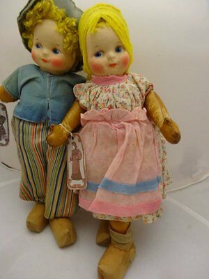 Pair of RUSTON 1920'S MAWAPHIL DOLLS, SIMILAR TO AVERILL, RARE DOLLS