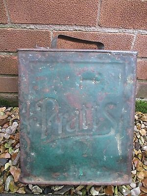 Pratts Vintage 2 Gallon Petrol Oil Can Advertising