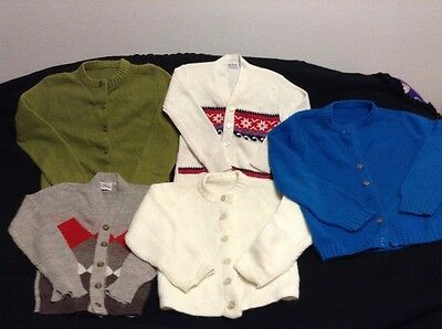 5 vintage children's sweaters; Knitown, JCPenneys