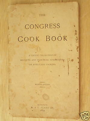Congress Yeast Powder Advertising Cook Book 1899 4th Ed
