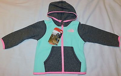 New Infant Girl's The North Face Glacier Full Zip Fleece Hoodie 12 - 18 months