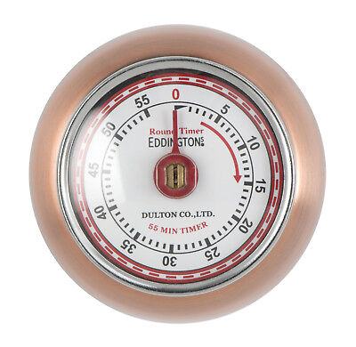 Eddingtons Magnetic Retro Style Kitchen Timer - Copper Timer 55min Countdown