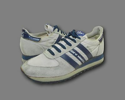 Vintage 80's ADIDAS 'Boston' Gray & Navy Athletic Sneakers Shoes Men's 6 Wmns 8