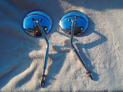 Harley Davidson Original Left  Right Side Mirror CHROME Parts Lot Great Mirrors