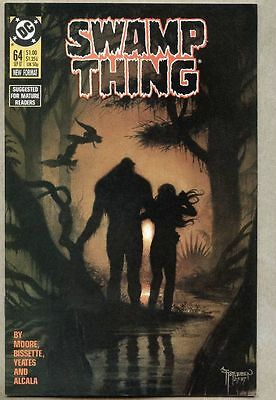 Swamp Thing #64-1987 vf Stephen Bissette last Alan Moore issue