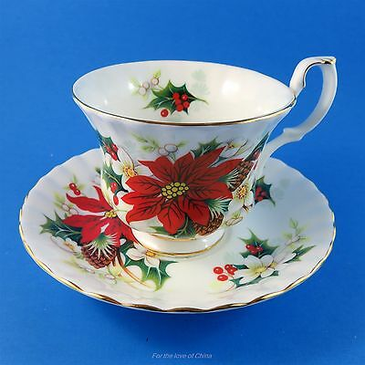 Royal Albert Poinsettia Tea Cup and Saucer Set