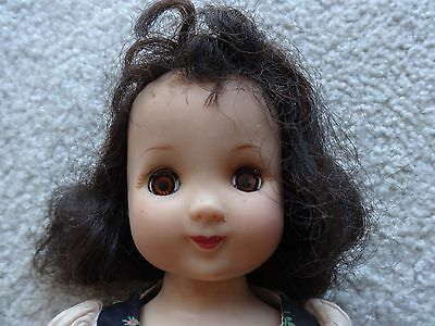"""1950's Ideal Betsy McCall Doll P90 Body In Original Dress (as is) & Skates 14"""""""