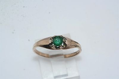 Antique Victorian Green Stone Gold Filled Ring