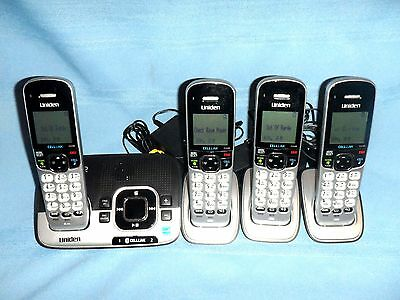 Uniden DECT 6.0 Cordless Telephone Handset (4) System w/Digital Answering Base