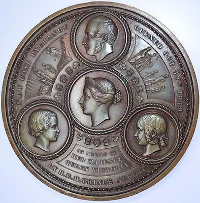 1849 Opening of the new Coal Exchange city of London medal by Wyon