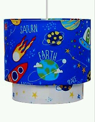 Blue Space Planets Solar System Lightshade Ceiling Light Pendant SHADE NEW