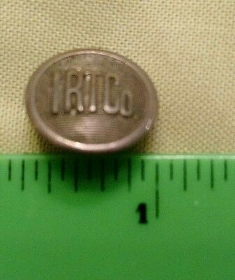 I.R.T.Co. Interborough Rapid Transit Co. Metal Button