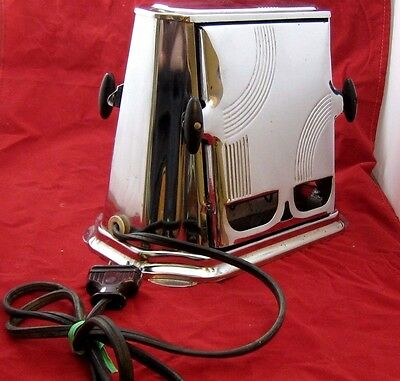 ANTIQUE 1930's SON CHIEF ELECTRIC TOASTER  Series 680 - Black & Chrome