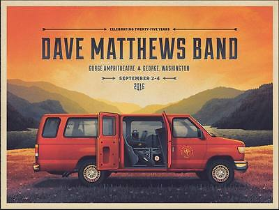 Dave Matthews Band DMB Gorge DKNG Van Poster 2016 Artist Edition Signed Numbered