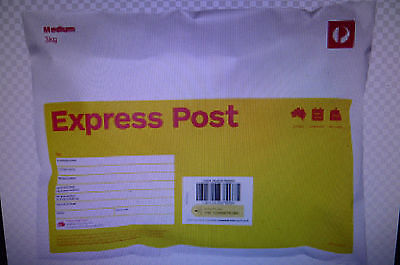 express post 3 kg satchel 10 pack with tax invoice