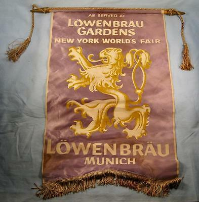 As Served At Lowenbrau Gardens New York Worlds Fair 1964 1965 Flag Banner (O)