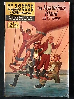 Classics Illustrated The Mysterious Island #34  HRN 156 G+