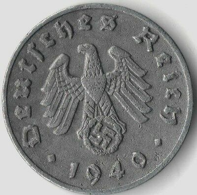 Rare Old Vintage WWII German Military Nazi Germany War Swastika Collection Coin