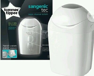 Tommee Tippee Sangenic Baby Nappy Disposal System Bin Tub + 1 Cassette NEW!!