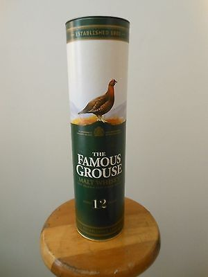 The FAMOUS GROUSE Scotch Malt Whiskey Cardboard Container Decanter
