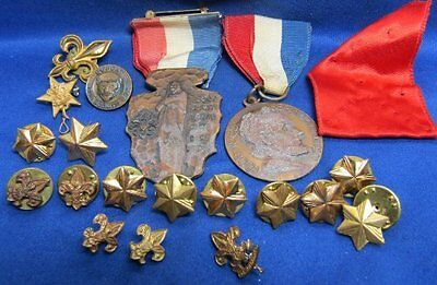 Vintage to Modern Boy Scouts and Girl Scouts Medals and Pins Large Group Lot