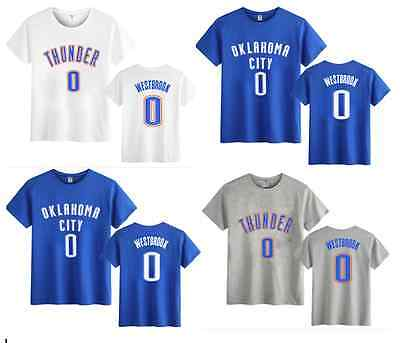 Russell Westbrook #0 Kids Boys Youth Jersey Tops T Shirt Shirts #110-140. #s-Xl