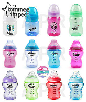 Tommee Tippee Closer Nature COLOUR MY WORLD / EXPLORA Bottles 150ml 260ml 340ml