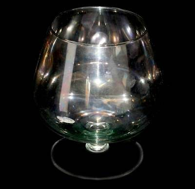 Vintage irridescent lustre large brandy balloon glass in lovely condition