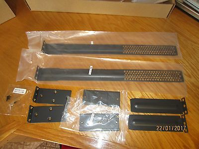 Cisco 5500 Wireless Controller Rack Mount Kit 1U, 8 metal pieces with hardware.